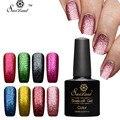 Saviland Platino Brillante Laca Gel 10 ml UV/LED Gel Esmalte de Uñas Empapa de Uñas de Color Shimmer Glitter Gel de Barniz