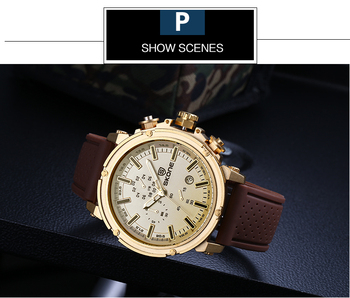 Chronograph Sport Mens Watch Top Brand Luxury Military Quartz For Men 5