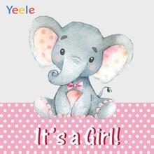 Yeele Elephant Girl Princess Newborn Baby Shower Photography Backdrop Custom Photographic Background  For Photo Studio Props