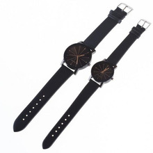 Classics Black Leather Lover's Watches Creative Couple Gift For Lovers