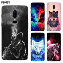 Starry animal wolf Luxury Soft TPU Silicone Phone Back Case For OnePlus 5 5T 6T 6 Frosted Fundas Printed Cover