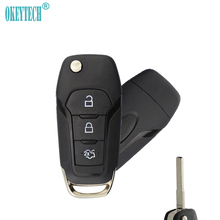 OkeyTech for Ford Key Shell 3 Button Flip Folding Auto Replacement Uncut Blade Remote Key Car Key Fob Cover Case Fob for Ford free shipping new replacement 2 button remote headed keylessentry ignition car fob uncut for nissan 1piece