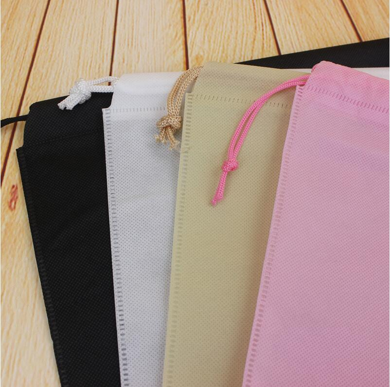 50 pcs lot 40 50cm Large Non woven Dust cover Drawstring Packaging Bags Shoe or Clothing