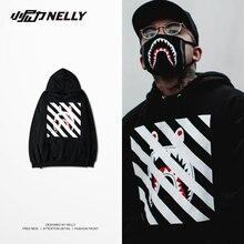 New Mantle with hood shark skate sudaderas hombre hoodies men lovers size 3XL sweat palace loose plus velvet hoodie dsp sad boy