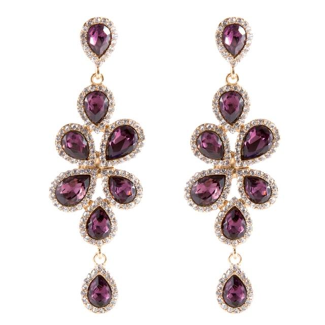 7.8 cm Luxurious Chandelier Earrings Bridesmaids Jewelry Vintage ...