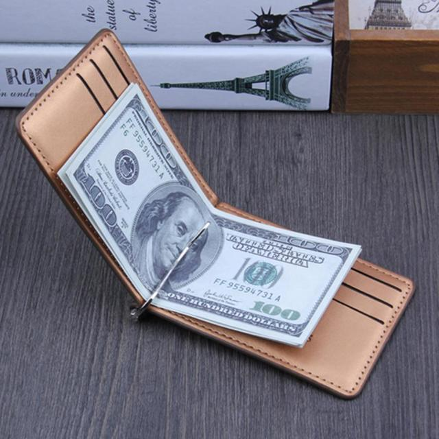 Men Bifold Business Leather Wallet  luxury brand famous ID Credit Card visiting cards wallet magic Money Clips 2019hot 1