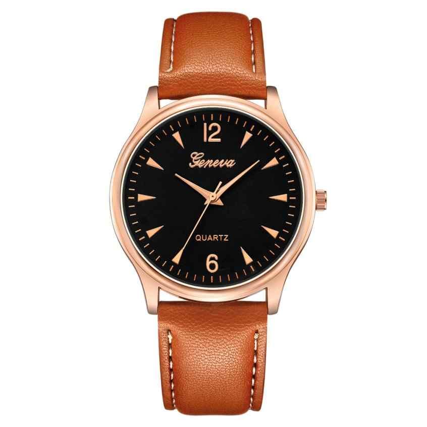 Reloj 2019 นาฬิกาแฟชั่นผู้ชายVINTAGEวันที่Dial FauxหนังAnalogควอตซ์นาฬิกาข้อมือทหารกีฬานาฬิกา