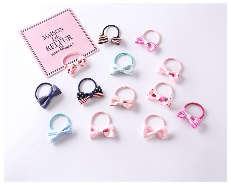 10PCS//Lot Girls Cartoon Elastic Candy Color Hair Rope Resin Headband X