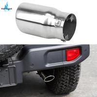 WISENGEAR Car Stainless Steel Exhaust Muffler Rear Exhaust Tail Pipe Exhaust Tube Outlet Cover For Jeep Wrangler JK 2007 2018