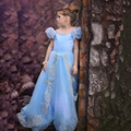 Hot Sale Girls Lace Princess Dresses Anna Elsa Dresses Vestidos Kids Party Dress Children's Clothing Snow Queen Cosplay Costume