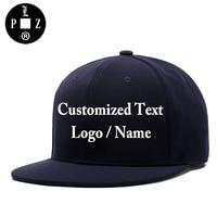 PLZ Customized Cap 3D Embroidery Custom Made Logo Snapback Men Women Family Team DIY Design Name