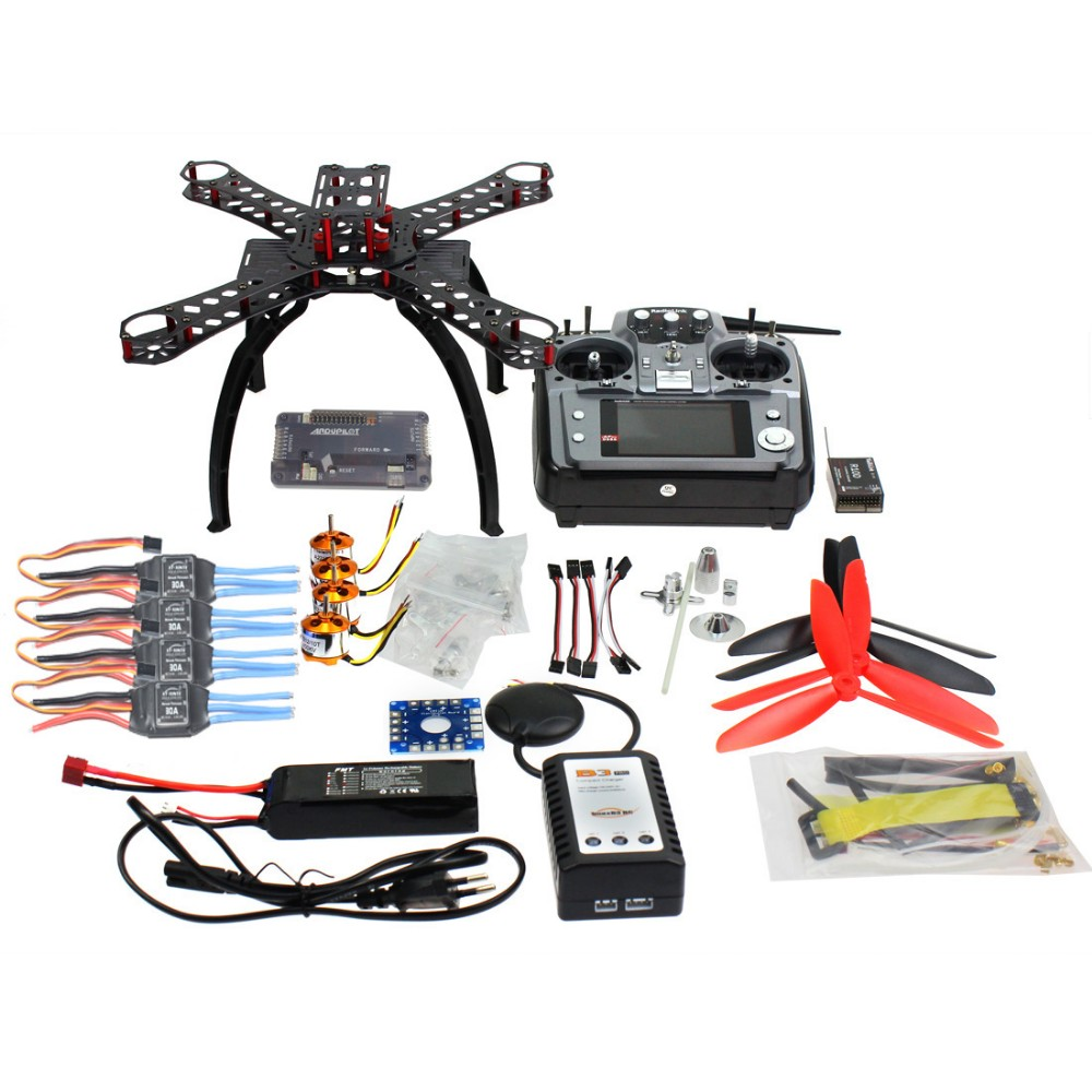 310 мм стекловолокна Рамки DIY GPS Drone FPV-системы <font><b>MultiCopter</b></font> Комплект Радиолинк AT10 2.4 г передатчик apm2.8 1400kv бесщеточный Двигатель 30A ESC