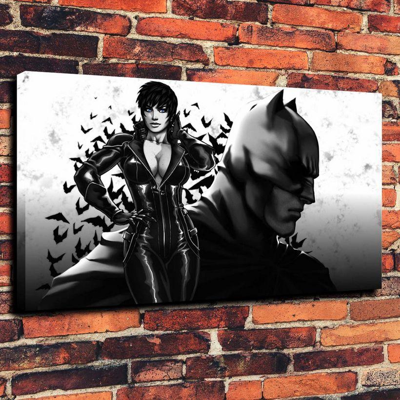 Art Oil Painting Print On Canvas Home Decor The Batman Framed