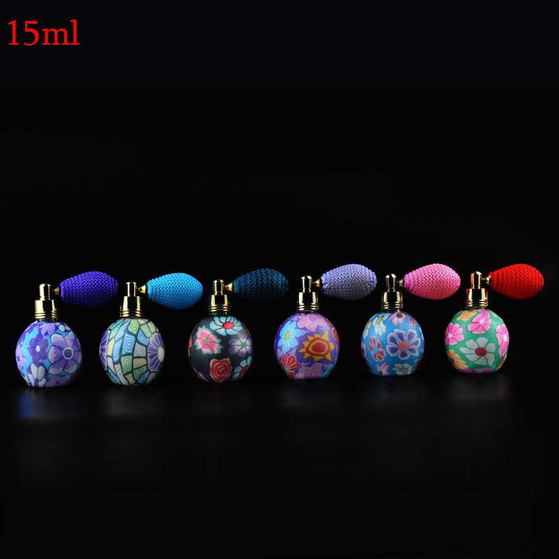 15 ml (3 Peças/lote) China Estilo Bonito Encantador Airbag Atomizador Parfum Perfume Bottles & Vazio Caso Com Colorido