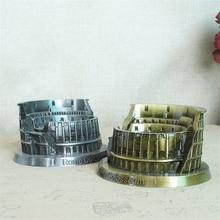 Vintage Rome Colosseum Model Metal Statue  Creative Model Handmade Craft Desktop Miniature Figurines Home Decoration Accessories