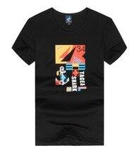 Men's t-shirt Brand clothing Tace&shark Man T-shirts Pure cotton Letter printing t-shirt billionaire