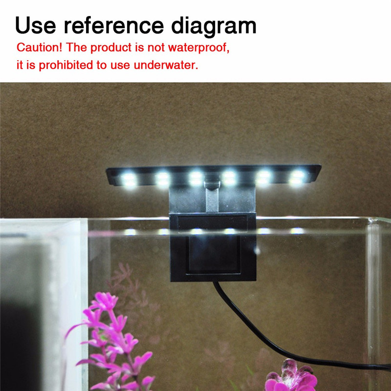 Aquarium LED Light Plants Grow Lighting Fish Tank Waterproof Clip-on Lamp 16