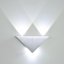 3W LED Wall Lamp Mounted Aluminum Modern Wall Sconce Triangle Designed LED Wall Light Decoration Home Lighting