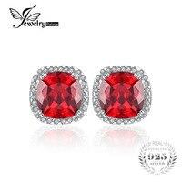 7ct Ruby Stud Earrings