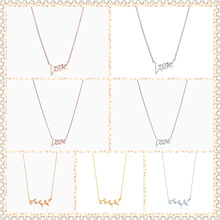 SHINETUNG TIFF original 100% 925 sterling silver tricolor love olive leaf pendant necklace has logo1:1 female high quality gifts