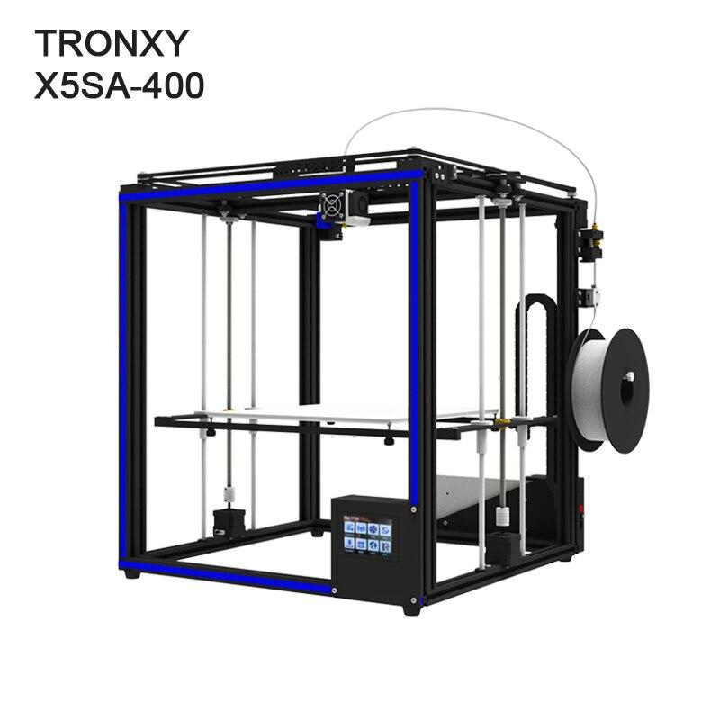 Di alta precisione Tronxy X5SA-400 3D stampante di grande formato di stampa 400x400x400mm