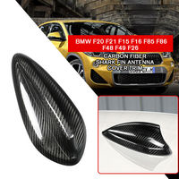 pcmos Carbon Fiber Shark Fin Antenna Cover Fits For BMW F20 F15 F16 F85 F86 F48 F26 Exterior Accessories Car Stickers 2019 New