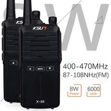 Phones Telecommunications - Walkie Talkie - (2pcs) KSUN X-30 Handheld Walkie Talkie Portable Radio 8W High Power UHF Handheld Two Way Ham Radio Communicator HF Transceiver