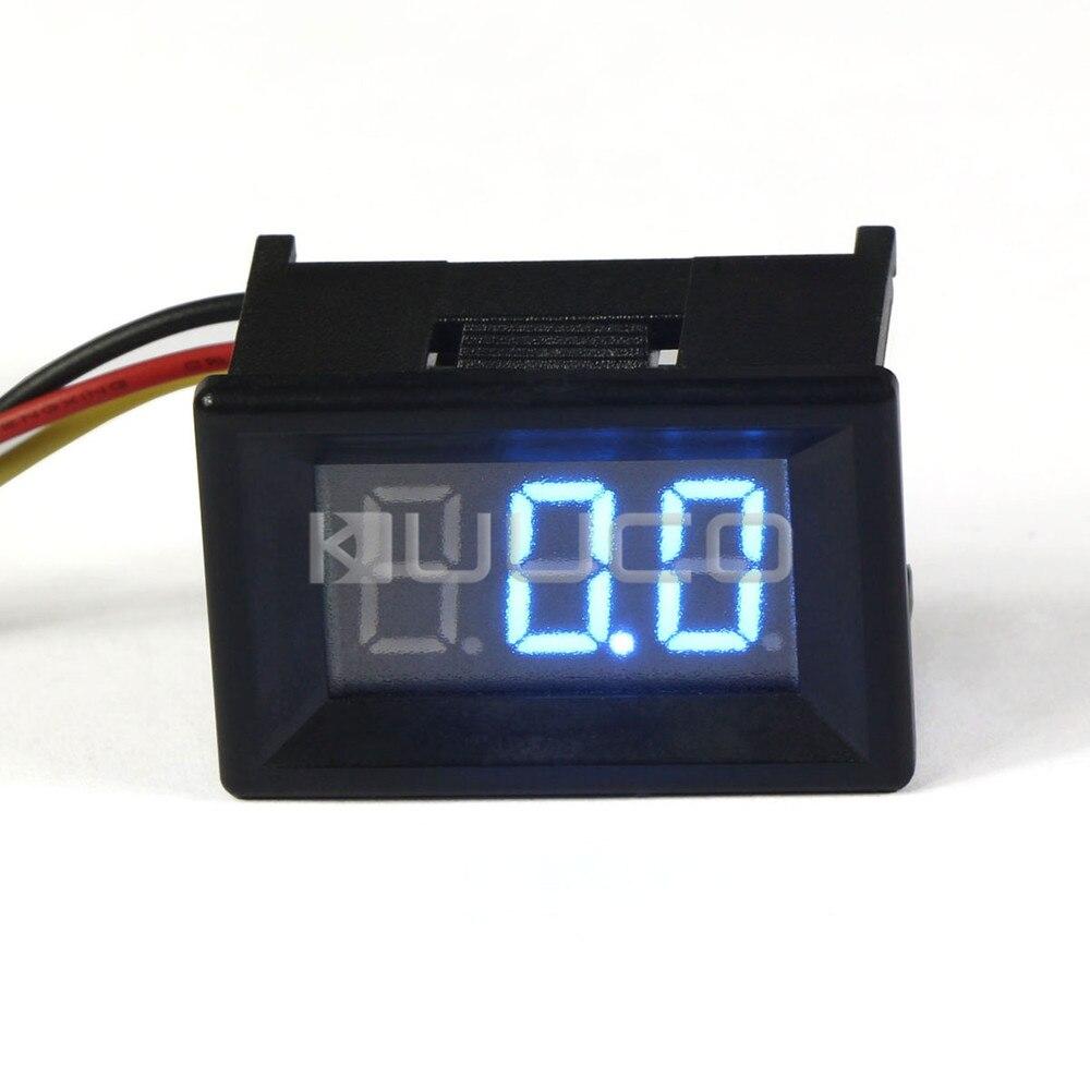 Digital Voltmeter 0.36 Blue LED Display Volt Meter DC 12V 24V Voltage Meter Tester for Car Voltmeter