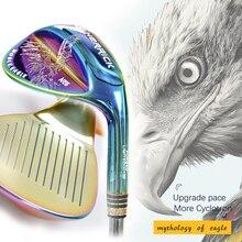 Golf wedge praworęczny unisex kolorowy wał stalowy dwustronna technika wirowania kluby golfowe golf wedge head