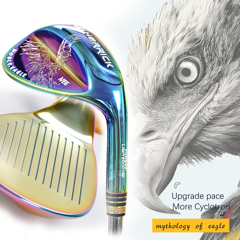 golf wedge right handed unisex colorful Steel Shaft Reversible spin technique golf clubs golf wedge head-in Golf Clubs from Sports & Entertainment