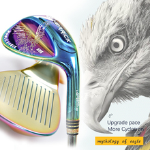 golf wedge right handed unisex colorful Steel Shaft Reversible spin technique golf clubs golf wedge head