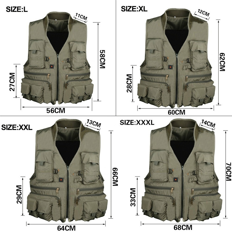 Outdoor Tactical Vest Waterproof Men Waistcoat Multi Pocket Hunting Fishing Vest Military Jacket For Horse Riding Camping Travel adjustable pro safety equestrian horse riding vest eva padded body protector s m l xl xxl for men kids women camping hiking