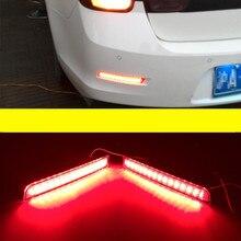 2 шт. автомобильный Светодиодный отражатель заднего бампера красного цвета светодиодный стоп-сигнал задний светильник для Chevrolet Malibu 2013