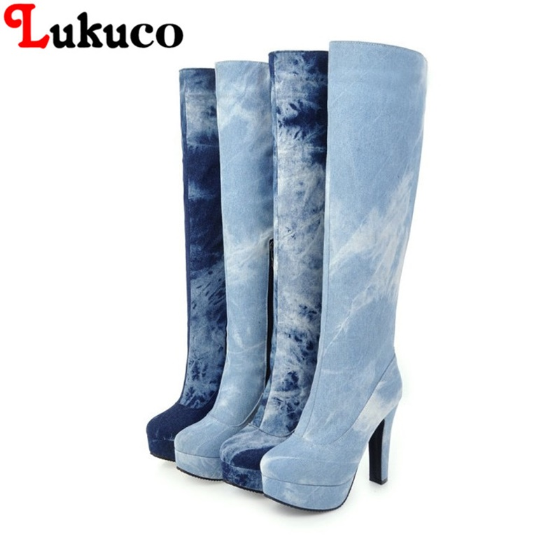 2018 fashion ZIPPER boots large CN size 41 42 43 44 45 46 47 48 high heels design women sexy shoes real pictures free shipping