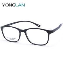 Yong Lan Made in Korean Optical Glasses Frame TR90 Plastic Titanium Square High Quality Myopia Transparent Lens Gafas Eyewear
