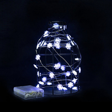 3M 30 leds Battery Powered Snow Flakes LED Copper Wire Fairy String Lights Lamps Christmas Holiday Wedding Party Garlands Light