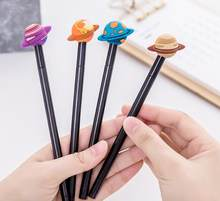 24pcs/lot 17.9cm Korea Novelty Planets Saturn Writing Gel Ink Pens Study Office Materials Birthday Festival Party Favor(China)