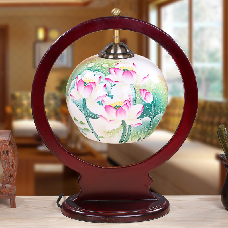 Louts jingdezhen chinese porcelain ceramic table lamp - Porcelain table lamps for living room ...