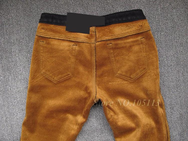 Fashion Winter Warm Mens Black Thicken Velvet Boot Cuts Casual Jeans Men Skinny Flared Jeans Bell Bottom Fleece Jeans 3Xl 4Xl 36 13