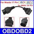 Новое Прибытие Для Mazda 17 Контактный До 16 Контактный Разъем OBD2 OBDII Диагностический Адаптер Для Mazda 17Pin Мужчин Кабель Для Автомобилей Mazda