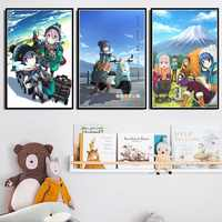 Home Decoration Wall Art Canvas Painting Yuru Camp Japanese Anime Pictures Nordic Style Poster Printed Modular For Living Room