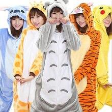Взрослый ребенок для женщин мужчин Аниме Kigurumi пижамы животных Тоторо  тигр стежка Пикачу косплэй костюм комбинезоны 3e6daf42a5197