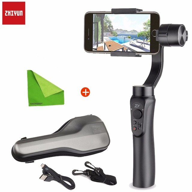 Zhiyun Smooth Q 3-Axis Smartphone Handheld Gimbal Moblie Stabilizer for iPhone X 8+7 6 Samsung S8 Plus Phone Wireless Control