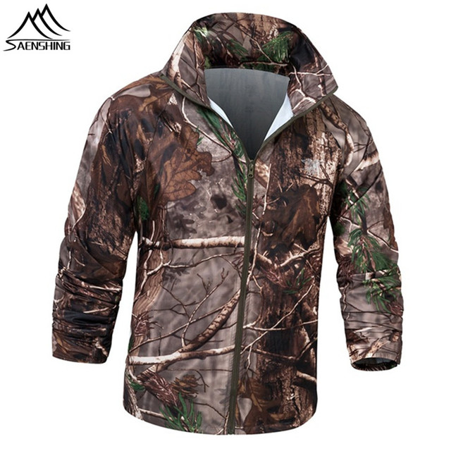 waterproof jacket men skin coat camouflage hunting jacket male hunting clothes breathable outdoor fishing rain jacket Size S-XXL