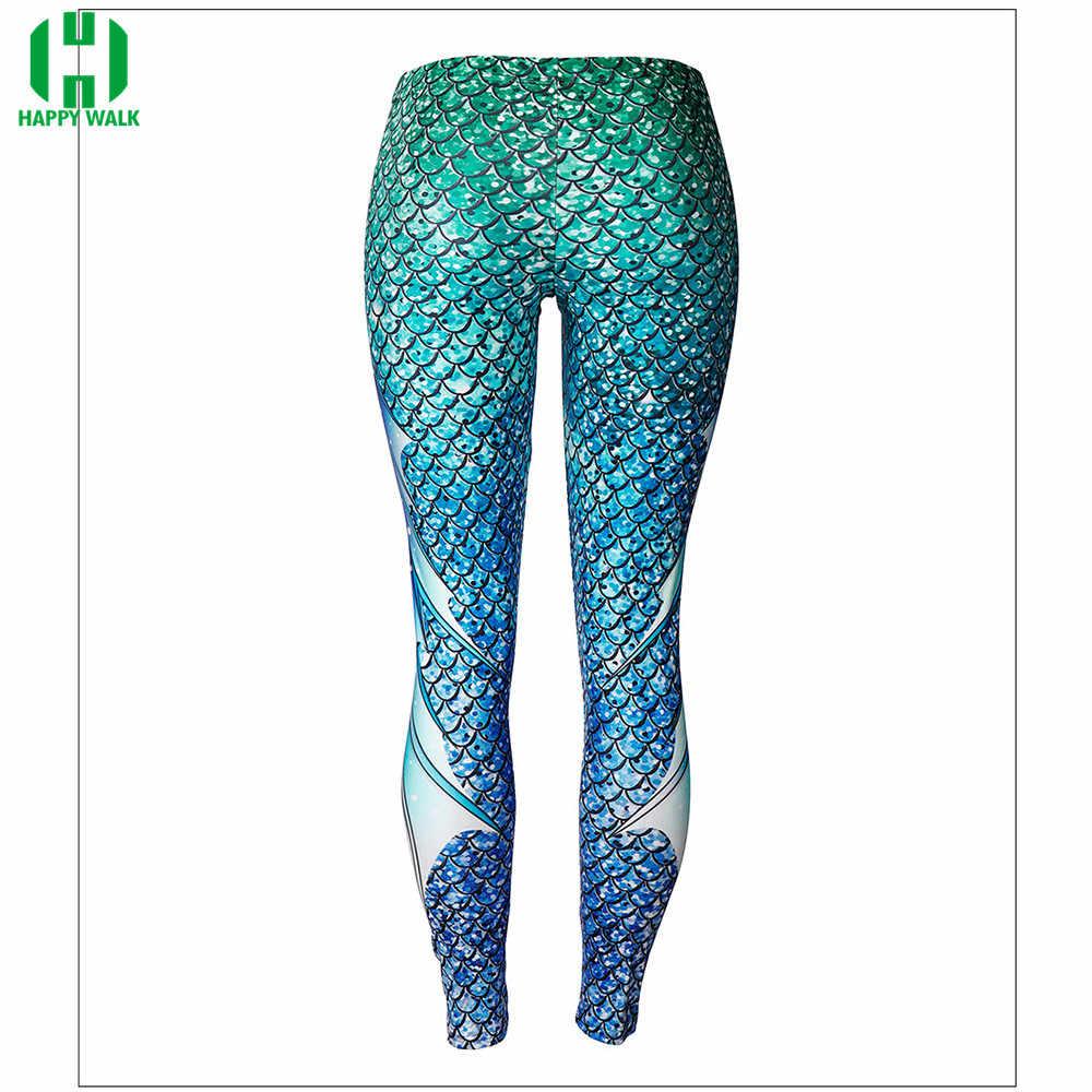 2020 חדש חותלות 3D בת ים רגליים מכנסיים נשים סקסי בת ים צועד דגי צועד כושר צבעוני בתוספת גודל גמישות צועד