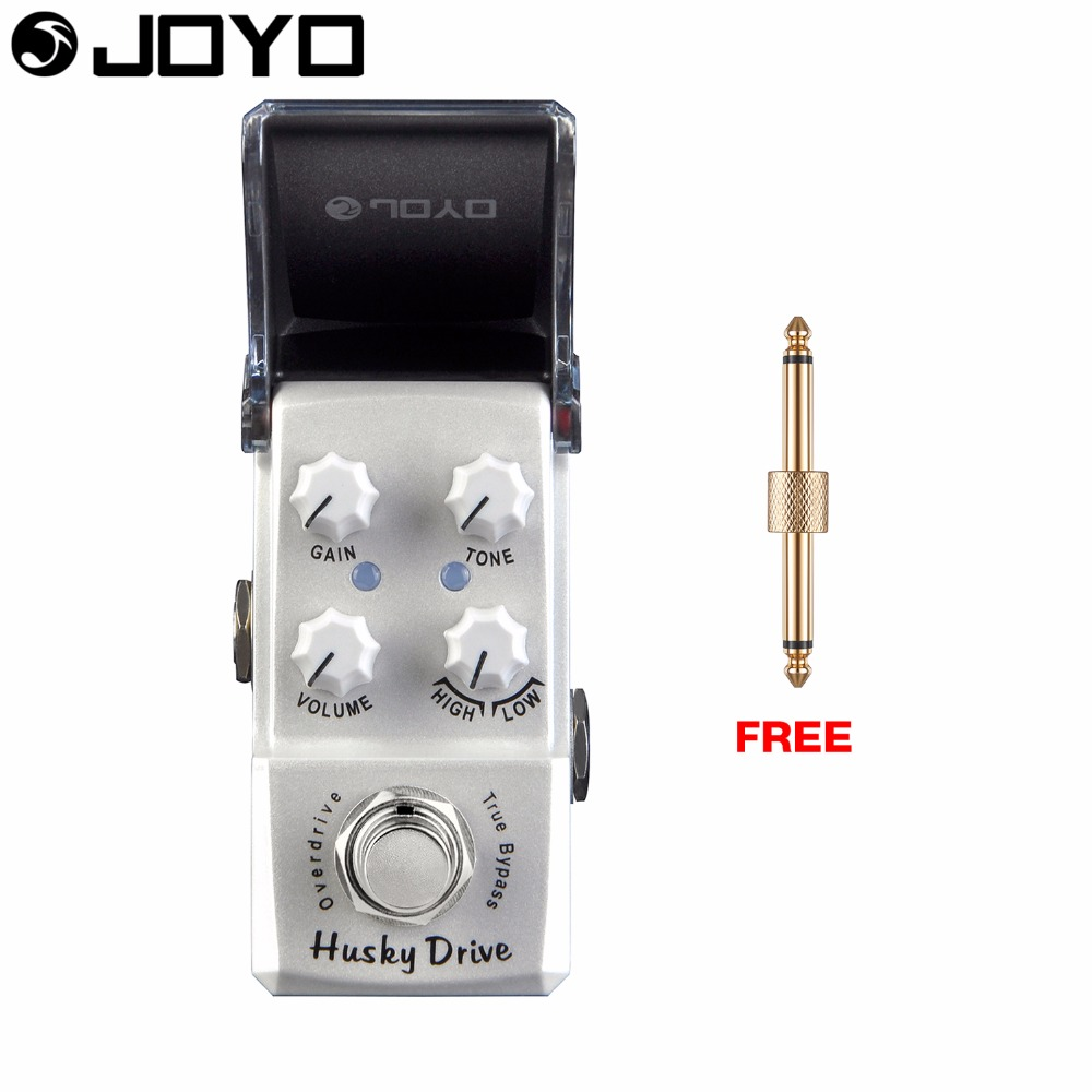 Joyo Husky Drive Overdrive Guitar Effect Pedal True Bypass JF-314 with Free Connector aroma adr 3 dumbler amp simulator guitar effect pedal mini single pedals with true bypass aluminium alloy guitar accessories