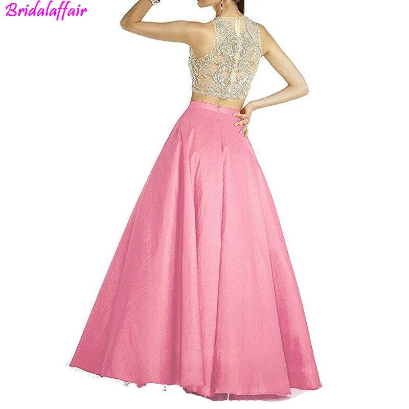 2019 robe De soirée pour femmes De Festa cristal perlé corsage robe De soirée formelle robe 2 pièces noir robes De bal longue robe De bal - 5