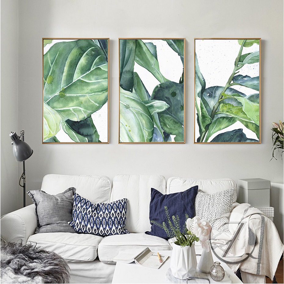 New Banana Leaf Canvas Paintings Natural Pop Wall Art