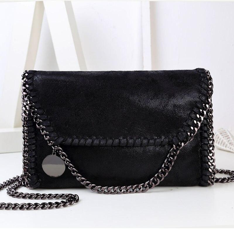 0b27b4290a25 Women Bag Message Bag Pu Leather Fashion Portable Chain Bag Woven Shoulder  bags bolsa feminina carteras mujer stella handbags