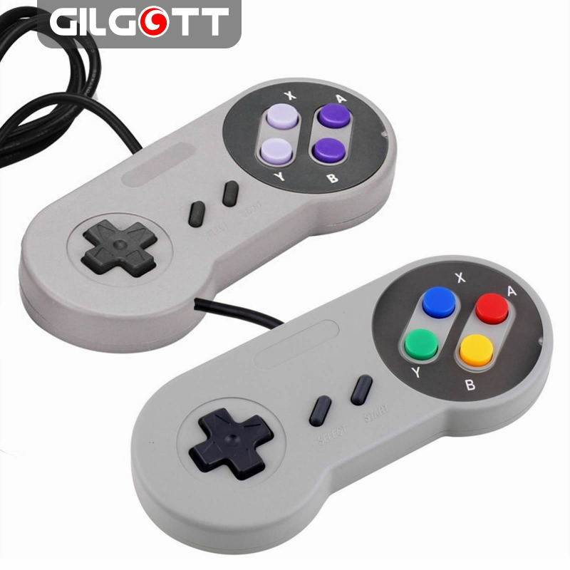 Wired Game Controller Joystick for Super Nintendo SFC SNES Console Classic Portable Video Gaming Gamepad